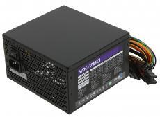 Блок питания Aerocool 750W OEM версия VX-750 ATX v2.3 A.PFC Haswell, fan 12cm, 450mm cable, power cord, PCI-E 6+2P x2/20+4P/4+4P/SATA x6 /MOLEX x3/FDD