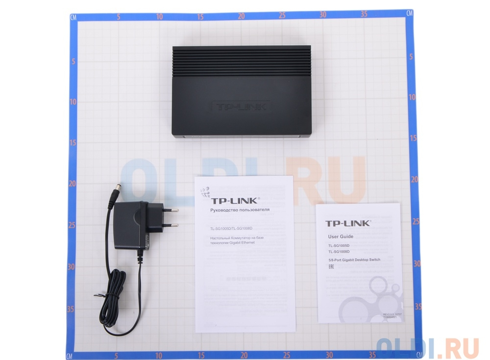 Коммутатор TP-LINK TL-SG1005D 5-port Gigabit Switch, plastic case