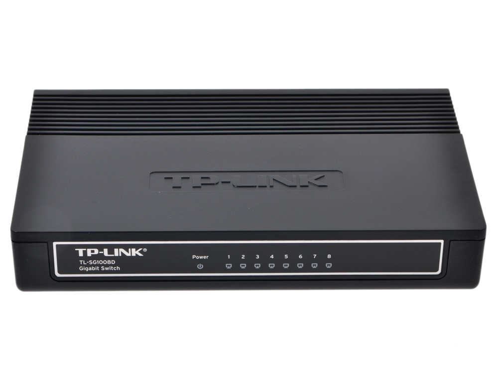 Коммутатор TP-LINK TL-SG1008D 8-port Gigabit Switch, plastic case