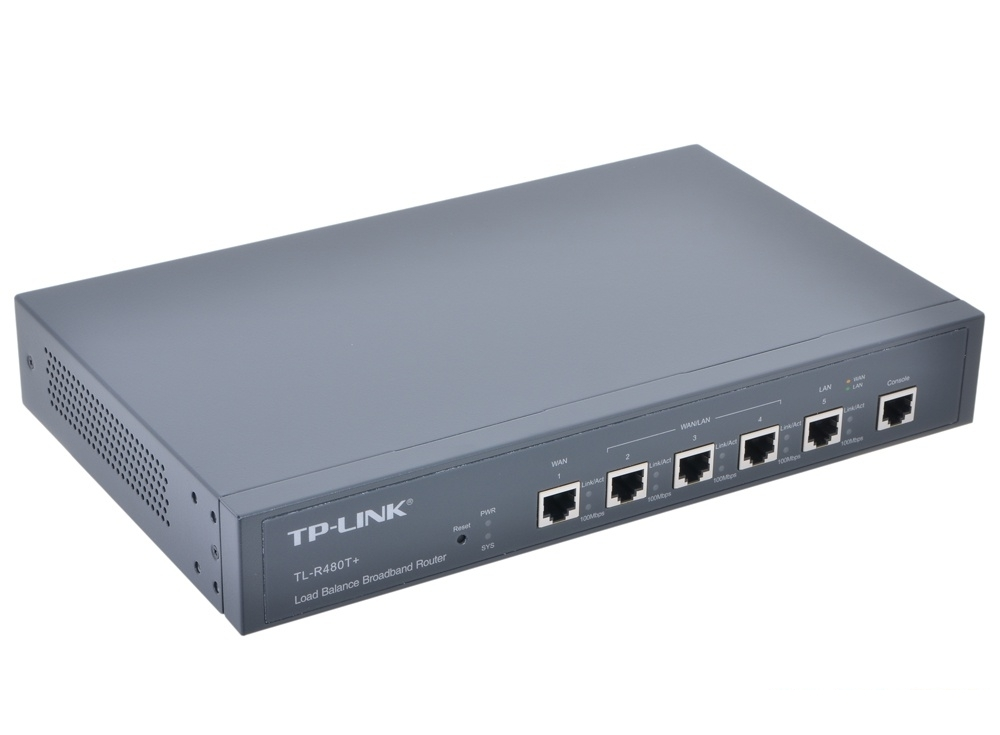 Маршрутизатор TP-LINK TL-R480T+ с регул.пропускной способности 2WAN+3LAN 10/100Mb/s, Intel IXP 266Mhz, VLAN