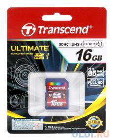 SDHC Transcend 16Gb Class10 UHS-I Ultimate (TS16GSDHC10U1)