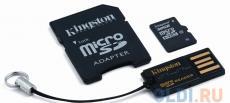 Карта памяти MicroSDHC 32GB Kingston Class10 + адаптер, ридер (MBLY10G2/32GB)