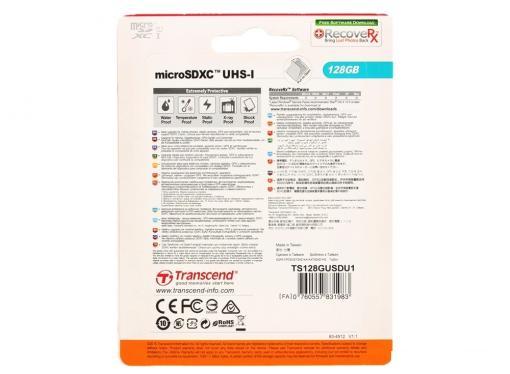 MicroSDXC Transcend 128GB Class10 UHS-I (TS128GUSDU1)