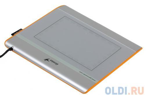 Графический планшет для рисования Genius EasyPen i405X рабочая зона: 4х5.5 дюймов, Стилус, Разрешение: 2560DPI, скорость: 100DPS, Горячих Клавиш: 28,