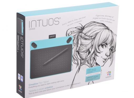 Графический планшет Wacom Intuos Draw Blue Pen S цвет мятно-голубой CTL-490DB-N