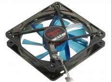 вентилятор enermax 12см ucta12n-bl [t.b. apollish] 120x120x25, синий, led-кольцо с 12 диодами, 900 об/мин, 17 дба, 63,78 м3/ч, адаптер 3p к 4p