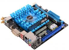 Материнская плата ASUS E2KM1I-DELUXE (AMD Fusion APU E-240, AMD FCH A50, 2*DDR3, PCI-E16x, DVI, HDMI, SATA III, USB 3.0, GB Lan + WiFi, mini-ITX, Retail)