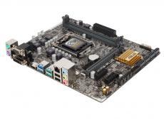 Материнская плата ASUS H110M-PLUS (S1151, iH110, 2*DDR4, 1xPCI-Ex16, 2xPCI-Ex1, SATA3, 2xUSB 3.1, D-SUB, DVI, HDMI, mATX, Retail)