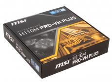 Материнская плата MSI H110M PRO-VH PLUS (S1151, H110, 2*DDR4, PCI-E16x, 2*PCI-E1x, D-SUB, HDMI, SATA III, GB Lan, USB3.1Gen1, mATX, Retail)