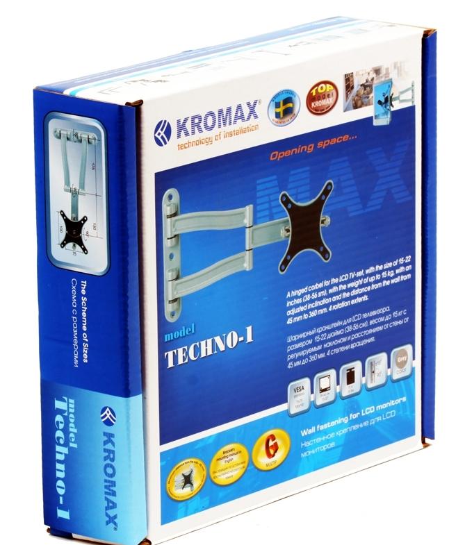 Кронштейн Kromax TECHNO-1 Черный
