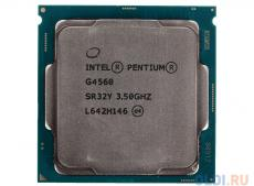 Процессор Intel Pentium G4560 OEM  TPD 54W, 2/4, Base 3.5GHz, 3Mb, LGA1151 (Kaby Lake)