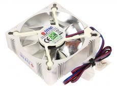 Вентилятор TITAN TFD-A8025L12Z(RB) Aluminum Frame Fan , 82x82x25мм, z-axis, 3-PIN, 2000 ± 10% RPM , ( 23 dBA
