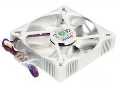 Вентилятор TITAN TFD-A12025L12Z(RB) Aluminum Frame Fan , 122x122x25мм, z-axis, 3-PIN, 1800 ± 10% RPM , ( 34 dBA