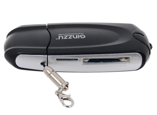 картридер ginzzu gr-312b black