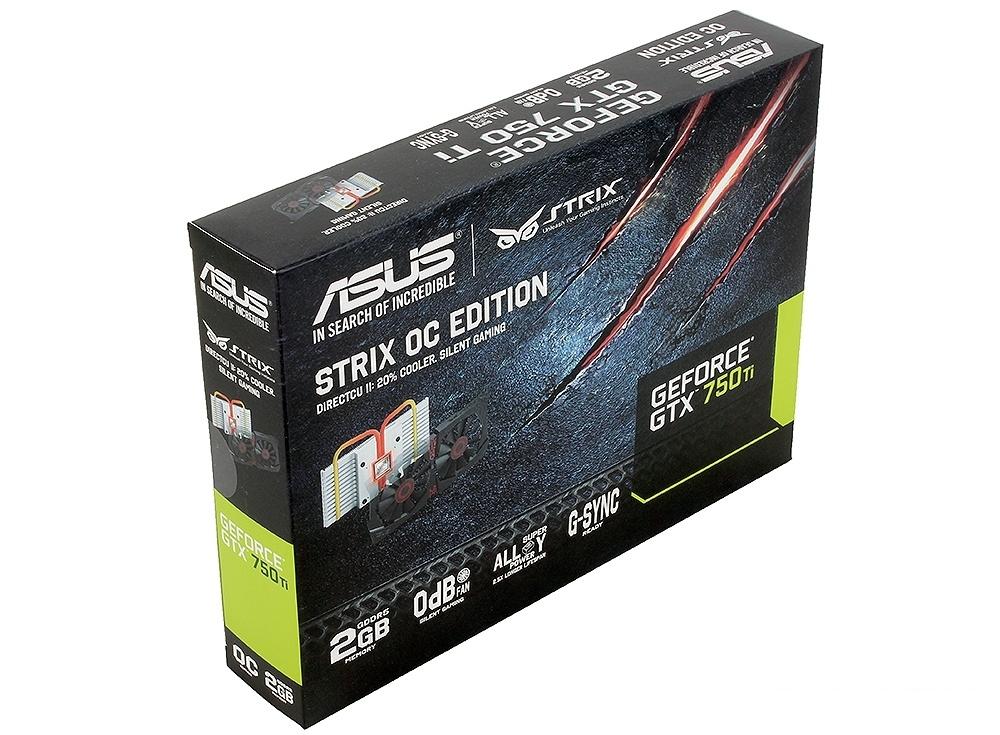 видеокарта 2gb <pci-e> asus strix-gtx750ti-oc-2gd5 с cuda (gtx750ti) gddr5, 128 bit, dvi, hdmi, dp, retail