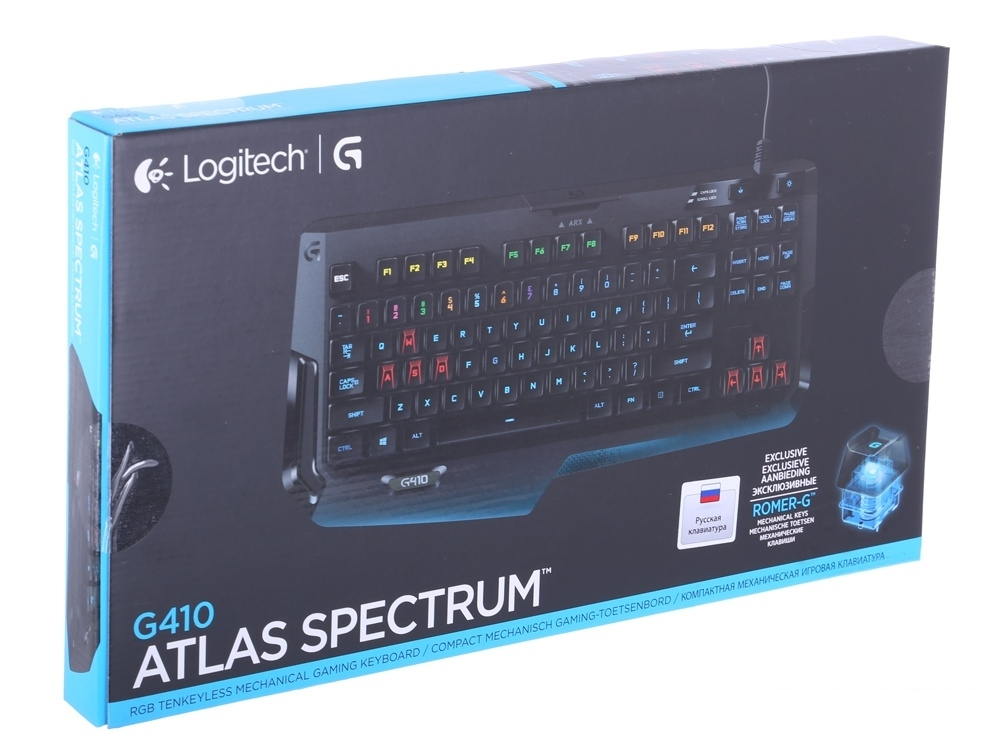 (920-007752) Клавиатура Logitech RGB Mechanical Gaming Keyboard G410 ATLAS SPECTRUM (G-package)