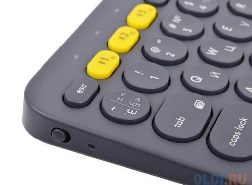 (920-007584) Клавиатура Беспроводная Logitech Wireless Bluetooth Multi-Device Keyboard K380 Dark Grey