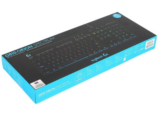 (920-007750) Клавиатура Logitech RGB Mechanical Gaming Keyboard G810 ORION SPECTRUM (G-package)