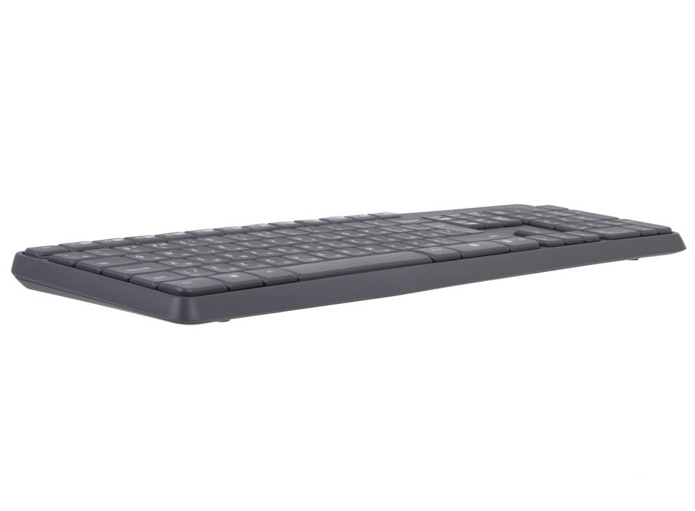(920-007948) Клав. + Мышь Беспроводная Logitech Wireless Keyboard and Mouse MK235 Grey