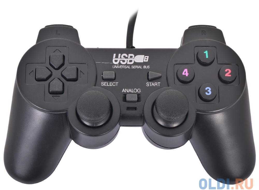 Геймпад 3Cott Single GP-01, 12 кнопок, вибрация, USB,черный
