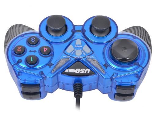 Геймпад 3Cott Single GP-05,14 кнопок, вибрация, USB,черно-синий