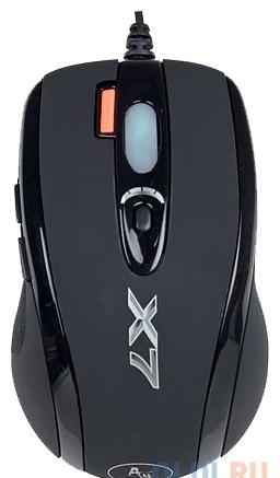 Мышь A4-Tech X-718BK, USB (черный) 6 кн, 1 кл-кн, 3200 dpi