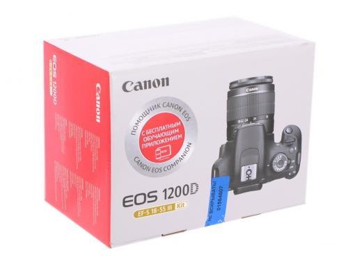 фотоаппарат canon eos 1200d 18-55 dc iii kit black