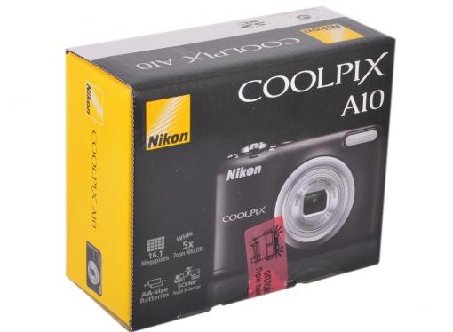 Фотоаппарат Nikon Coolpix A10 Black (16Mp, 5x zoom, SD, USB, 2.7