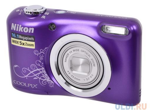 Фотоаппарат Nikon Coolpix A10 Purple Purple Lineart (16Mp, 5x zoom, SD, USB, 2.7