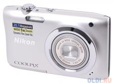Фотоаппарат Nikon Coolpix A100 Silver (20.1Mp, 5x zoom, SD, USB, 2.6