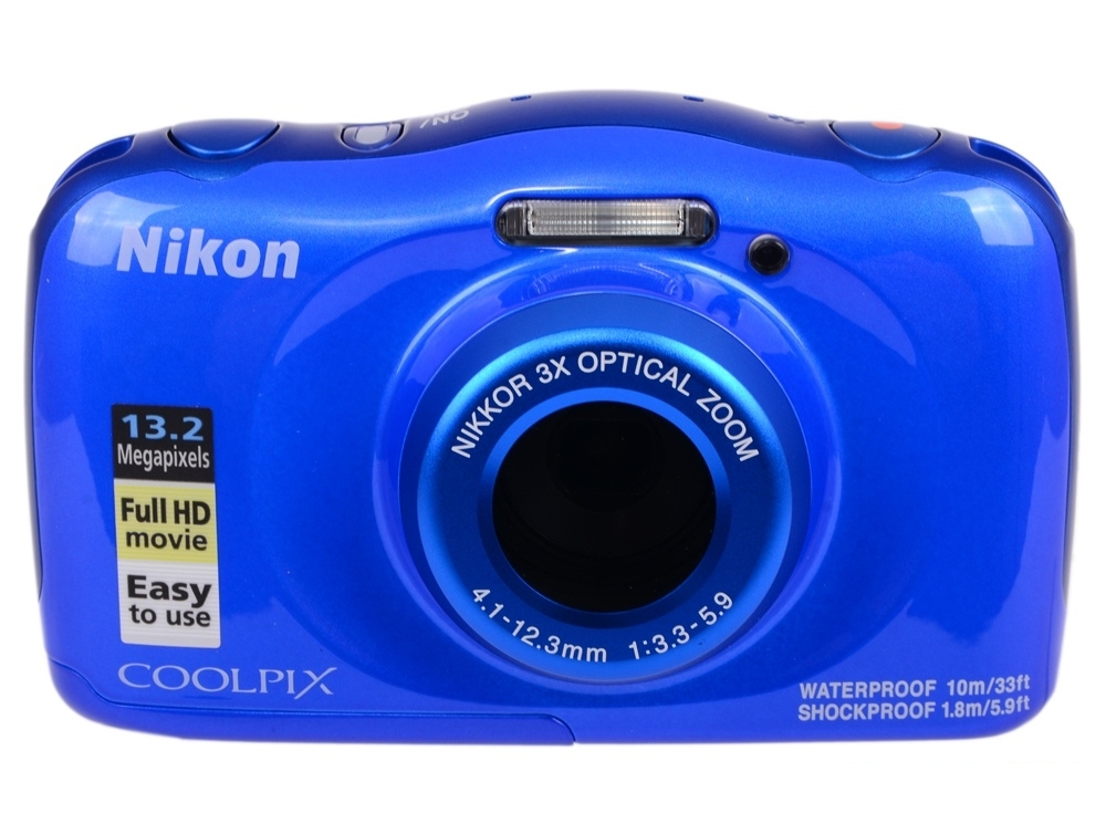 Фотоаппарат Nikon Coolpix W100 Blue Backpack KIT (13.2Mp, 3x zoom, 2.7