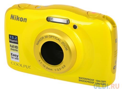 Фотоаппарат Nikon Coolpix W100 Yellow Backpack KIT (13.2Mp, 3x zoom, 2.7