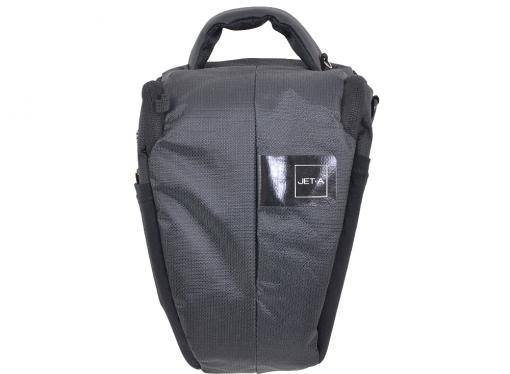 сумка для фотоаппарата jet.a cb-04 (15*13*23) черный/желтый интерьер (качественный нейлон/полиэстр)