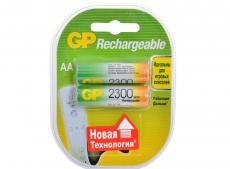 Аккумуляторы GP 2шт, AA, 2300mAh, NiMH (230AAHC)