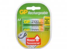 Аккумуляторы GP 2шт, AA, 2100mAh, NiMH (210AAHC-2CR2)