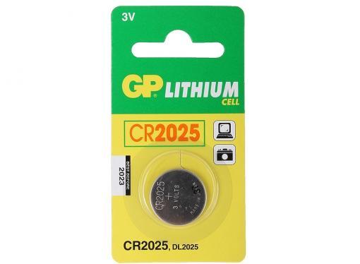 Элемент питания GP CR2025-BC1 1шт.