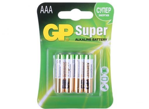 Батарея GP 24A 4шт. Super Alkaline (AAA) GP24A-CR4