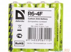 Батарейки Defender R6-4F 4 шт 56111