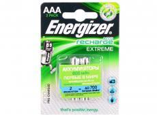Аккумулятор Energizer Extreme AAA 800 mAh 2шт. в блистере (638628/E300324300/E300624300)