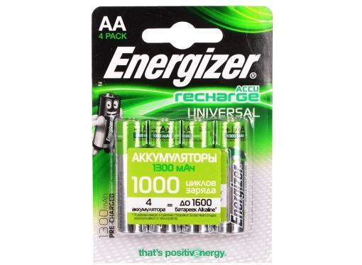 Аккумулятор Energizer Universal AA 1300 mAh 4шт. в блистере (638590/E300322101)