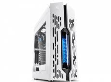Корпус Deepcool GENOME II WH-BL , ATX, без БП, боковое окно, синяя спираль, система водяного охлаждения.