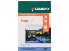 0102005 бумага LOMOND (A4, 160гр, 100л) Photo Матовая, 1стор.