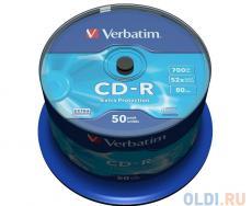 CD-R Verbatim 700Mb 52x 50шт Cake Box