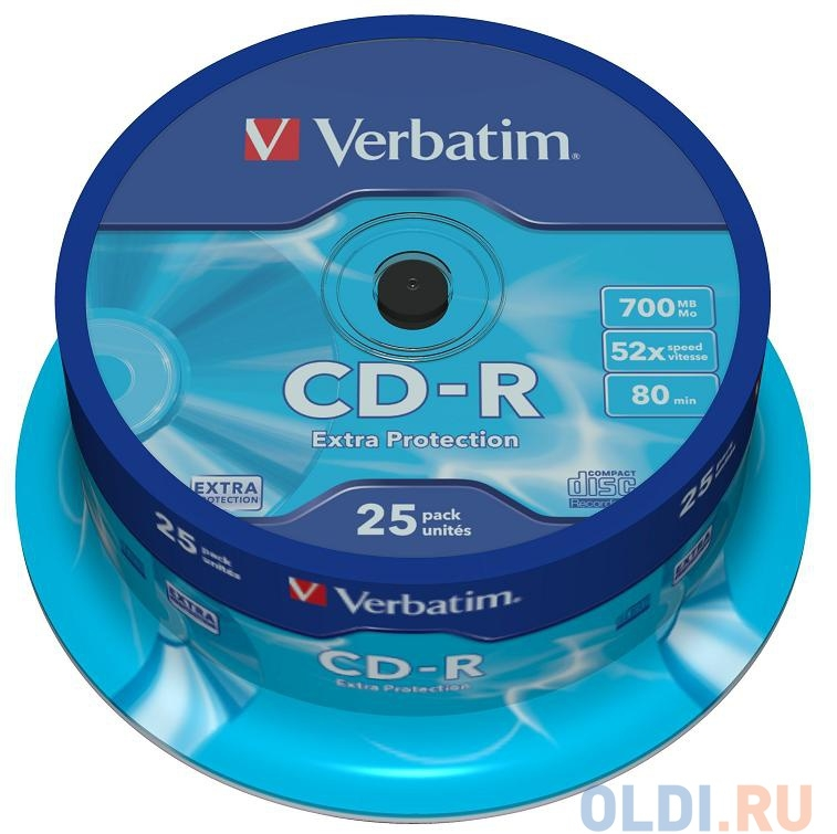 CD-R Verbatim 700Mb 52x DL 25шт Cake Box