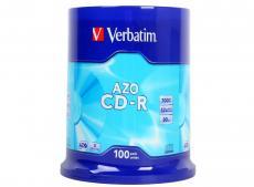 CD-R Verbatim 700Mb 52x DL Crystal 100шт Cake Box