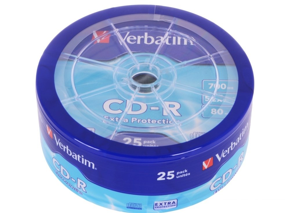 CD-R Verbatim 700Mb 52x 25шт Shrink
