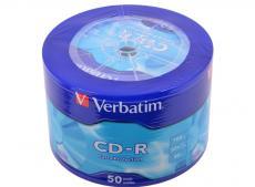 CD-R Verbatim 700Mb 52x 50шт Shrink 43728 80min 700Mb 52x
