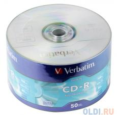 CD-R Verbatim 700Mb 52x 50шт Shrink 43787