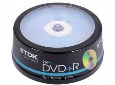 DVD+R TDK 4.7Gb 16x 25шт Cake Box