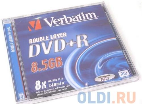 DVD+R Verbatim 8.5Gb 8x Dual Layer Jewel
